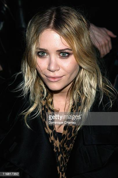 Mary Kate Olsen attends the John Galliano fashion show during Paris Fashion Week Fall/Winter 2008 held at the Grande Halle de la Vilette on March 1,...