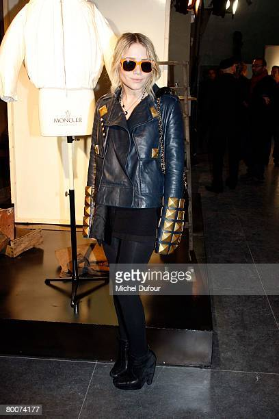 Mary Kate Olsen attends the Moncler Fashion show, gamme Rouge, designed by Giambattita Valli, during Paris Fashion Week Fall-Winter 2008-2009 at...