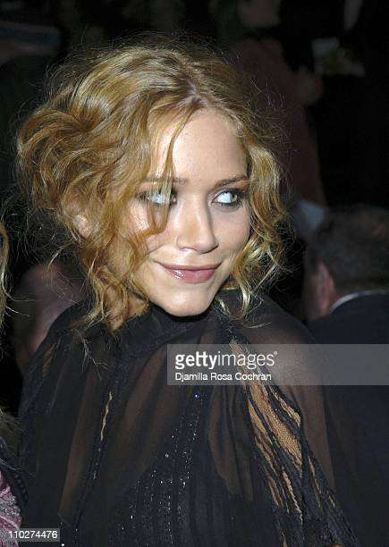 Mary Kate Olsen during Olympus Fashion Week Fall 2006 Badgley Mischka Front Row and Backstage at Bryant Park in New York City New York United States