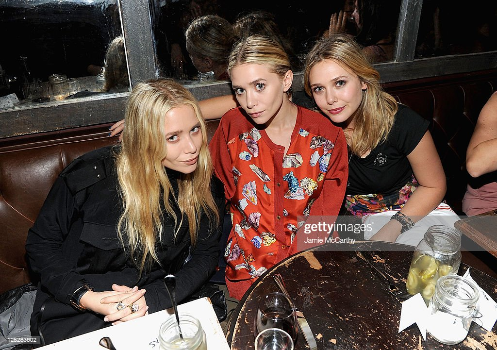 NYLON & AX Armani Exchange Private Dinner For The October Issue With Cover Star Lizzie Olsen : News Photo
