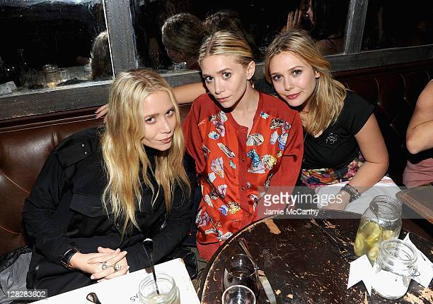 Mary Kate OlsenAshley Olsen and Elizabeth Olsen attend the NYLON AX Armani Exchange Private Dinner for the October issue with cover star Lizzie Olsen...