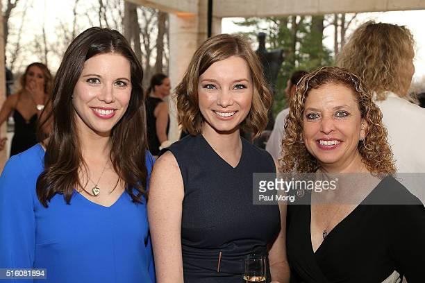Mary Katharine Ham Kristen Soltis Anderson and Rep Debbie Wasserman Schultz attend the ELLE and Hugo Boss Women in Washington Power List Dinner at...