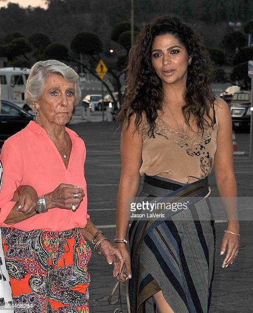 Mary Kathlene McCabe and Camila Alves attend the Los Angeles Dodgers Foundation Blue Diamond gala at Dodger Stadium on July 28 2016 in Los Angeles...