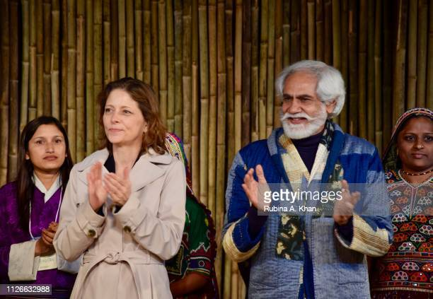 Mary Kathryn Hollifield Practice Manager Agriculture World Bank and Sunil Sethi President of the Fashion Design Council Of India on January 31 2019...