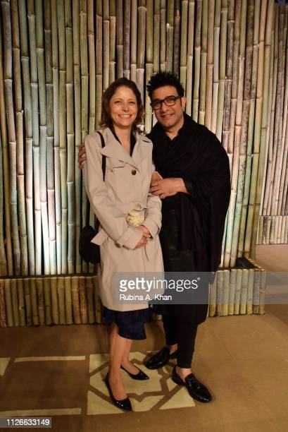 Mary Kathryn Hollifield Practice Manager Agriculture World Bank and designer Suneet Varma on January 31 2019 in New Delhi India
