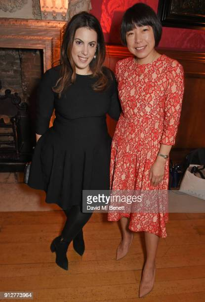 Mary Katrantzou and Angelica Cheung attend Wendy Yu's Chinese New Year Celebration at Kensington Palace on January 31 2018 in London United Kingdom