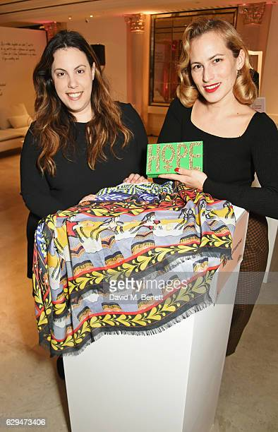 Mary Katrantzou and Charlotte Dellal attend the VIP launch of #SheInspiresMe Fashion a limited edition designer collaboration in aid of Women For...