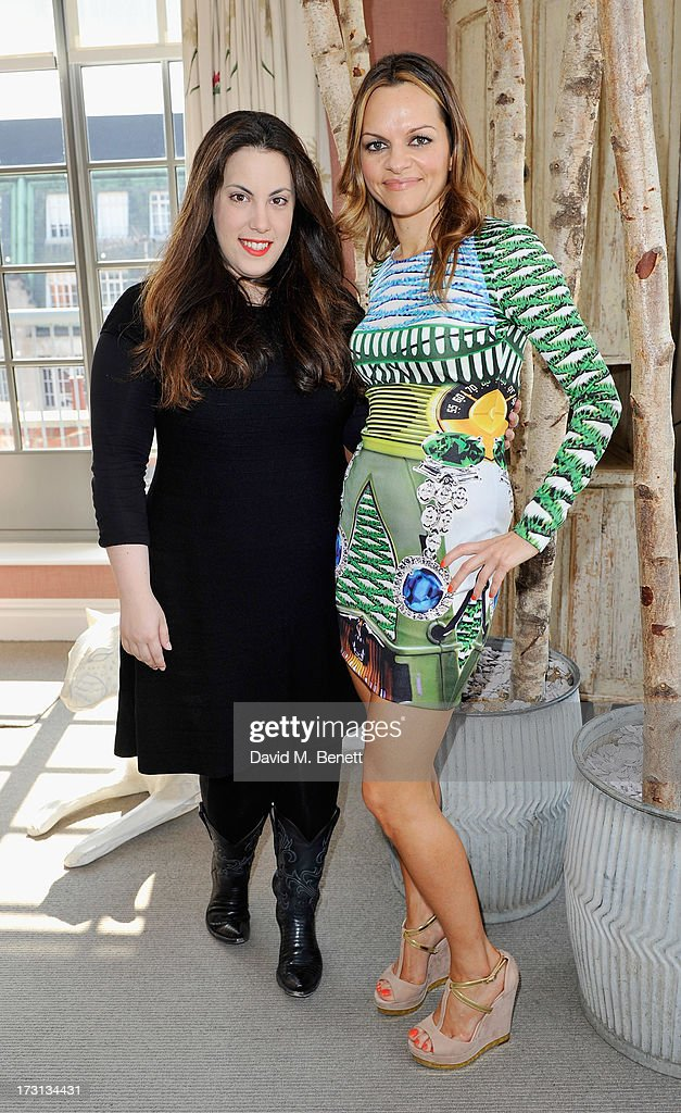 Mary Katrantzou and Maria Hatzistefanis attends Mary Katrantzou for Rodial candle launch party at Soho Hotel on July 8, 2013 in London, England.