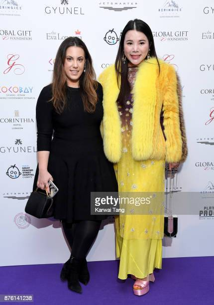 Mary Katrantzou and Wendy Yu attend The Global Gift gala held at the Corinthia Hotel on November 18 2017 in London England