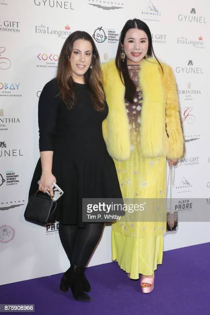Mary Katrantzou and Wendy Yu attend The Global Gift Gala London held at Corinthia Hotel London on November 18 2017 in London England