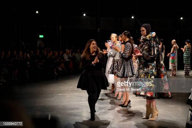 Mary Katrantzou at Mary Katrantzou SS19 show production by Family Limited on September 15 2018 in London England