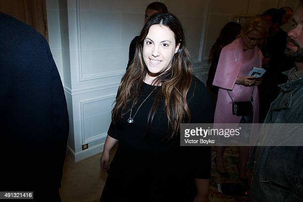 Mary Katrantzou attend Buro 24/7 Family Presentation of 9 Fashion Designers from Russia Ukraine and Kazakhstan at Hotel Bristol on October 4 2015 in...
