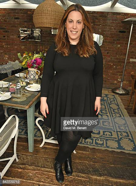 Mary Katrantzou attends a private lunch hosted by Mary Katrantzou and Anastasia Koutsioukis to celebrate summer with NETAPORTER at Mandolin at...