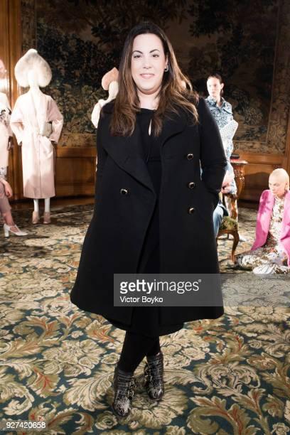 Mary Katrantzou attends the Alena Akhmadullina Presentation as part of the Paris Fashion Week Womenswear Fall/Winter 2018/2019 on March 4 2018 in...