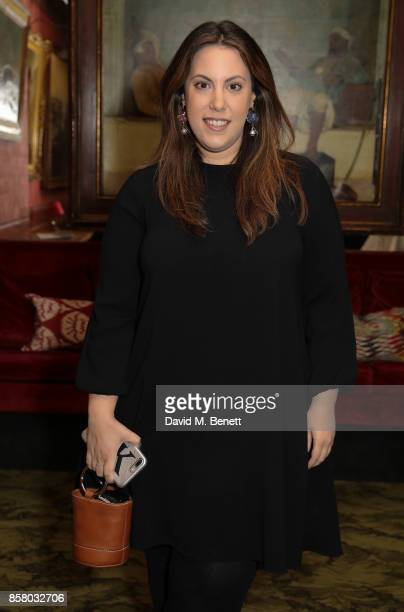 Mary Katrantzou attends the launch of Bazaar Art published in association with Bentley Mark's Club on October 5 2017 in London England