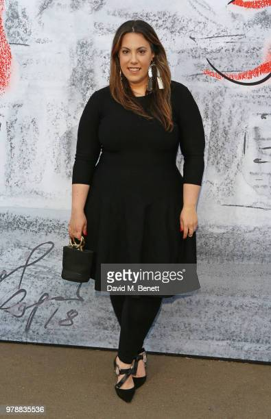 Mary Katrantzou attends the Serpentine Summper Party 2018 at The Serpentine Gallery on June 19 2018 in London England