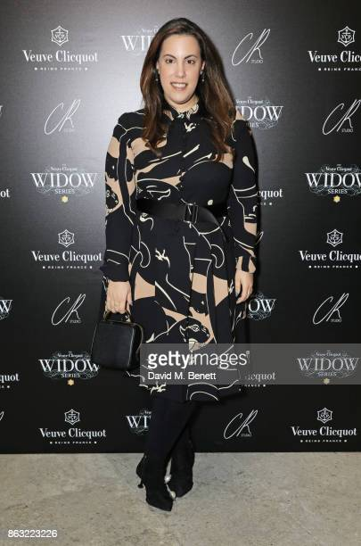 Mary Katrantzou attends The Veuve Clicquot Widow Series By Carine Roitfeld And CR Studio on October 19 2017 in London England