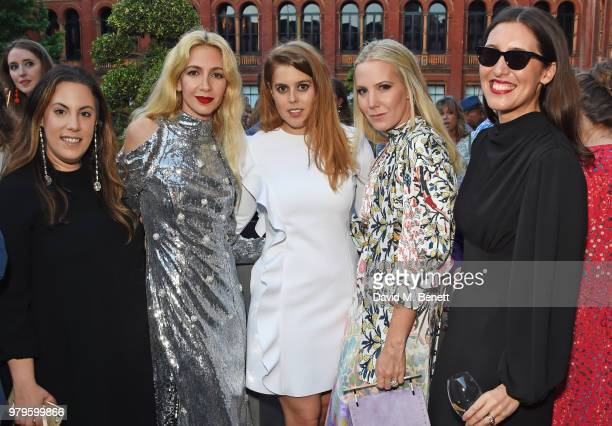 Mary Katrantzou Sabine Getty Princess Beatrice of York Alice NaylorLeyland and Emilia Wickstead attend the Summer Party at the VA in partnership with...