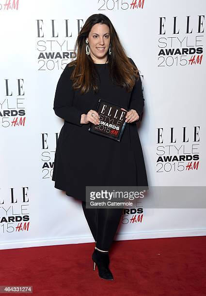 Mary Katrantzou with her Red Carpet Designer award during the Elle Style Awards 2015 at Sky Garden @ The Walkie Talkie Tower on February 24 2015 in...