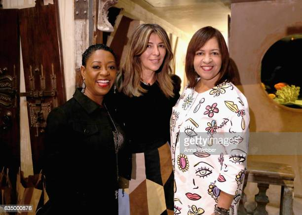 Mary Kay Independent Beauty Consultant Gloria Mayfield Banks Marie Claire Creative Director Nina Garcia and Mary Kay Chief Marketing Officer Sheryl...