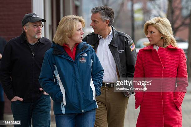 Mary Kaye Huntsman her husband Republican presidential candidate Jon Huntsman New Hampshire State Representative Charlene Lovett and NH State...