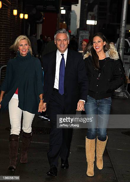 Mary Kaye Huntsman Presidential Hopeful Jon Huntsman and Abby Huntsman arrive to 'Late Show With David Letterman' at the Ed Sullivan Theater on...