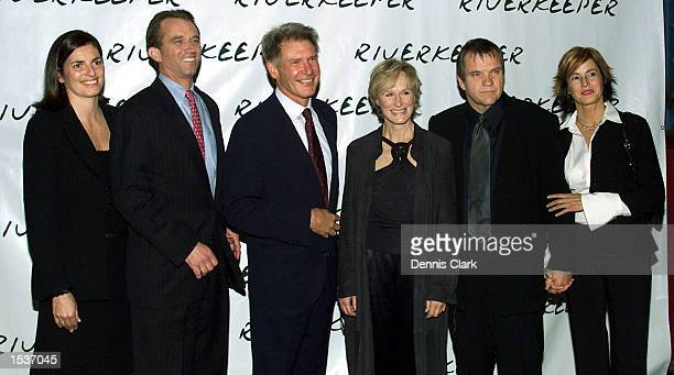 Mary Kennedy Robert F Kennedy Jr actor Harrison Ford actress Glenn Close singer Meatloaf and Debroah Gillespie attend the Riverkeeper dinner April 22...