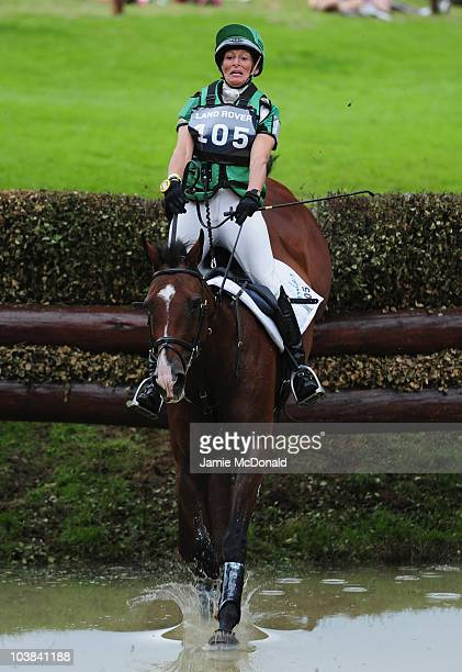 Mary King of Great Britain rides Kings Temptress during the Cross Country Event of the Burghley Horse Trials on September 4 2010 in Stamford England