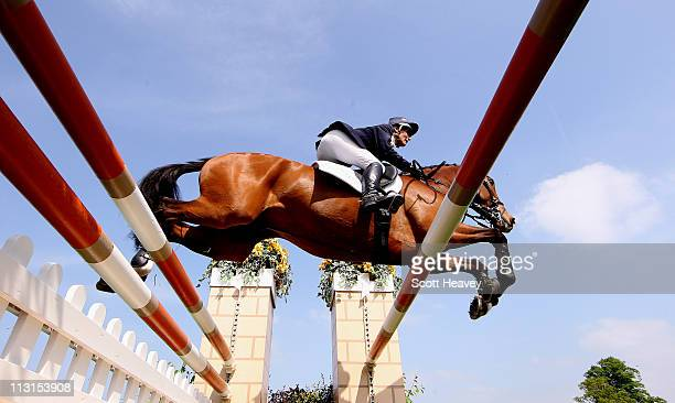 Mary King of United Kingdom clears a fence on Imperial Cavalier during day 5 of the Badminton Horse Trials on April 25 2011 in Badminton...
