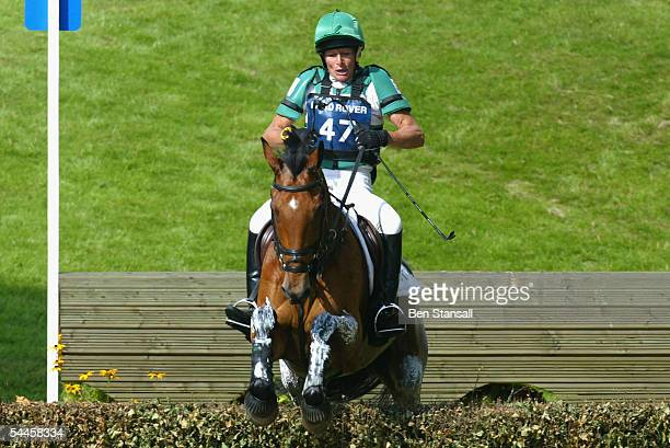 Mary King riding Call Again Cavalier during the cross country phase on the second day of the Burghley Horse Trials at Burghley Park Stamford on...