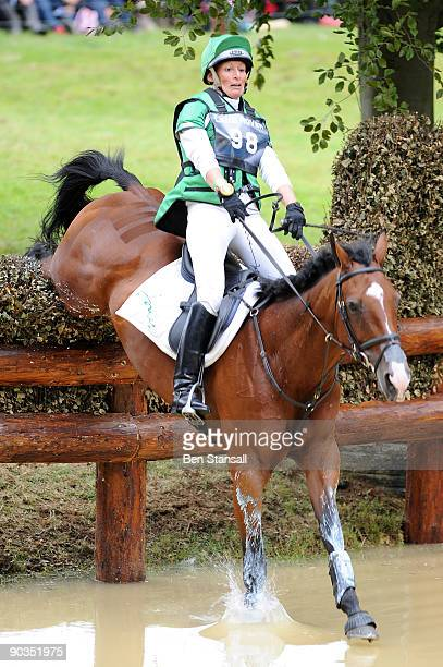 Mary Kings rides King Temptress during the cross country phase of Burghley Trials on September 5 2009 in Stamford England
