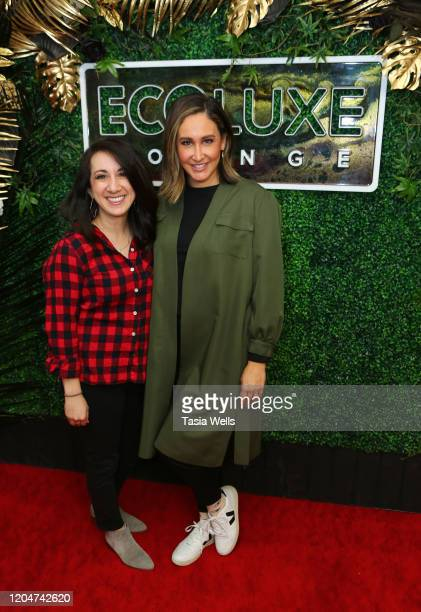 Mary Kouyoumdjian and Suzanne Marquis attend Debbie Durkin's EcoLuxe Lounge Honoring Film Award Nominees 2020 at The Beverly Hilton Hotel on February...