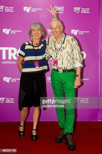 Mary Kruszelnicki and Karl Kruszelnicki at Tropfest 2014 on December 7, 2014 in Sydney, Australia.