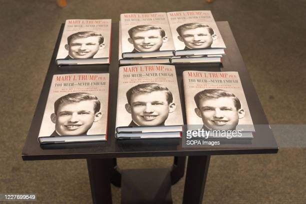 Mary L. Trump's new book about the U.S. President Donald J. Trump is on display at Barnes & Noble store on Broadway in Manhattan. Book is on sale in...