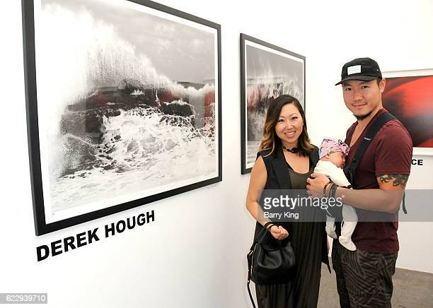 Mary Lai Rylie Lai and Jerry Lai attend 'Hindsight Is 30/40 A Group Photographer Exhibition' at The Salon at Automatic Sweat on November 12 2016 in...
