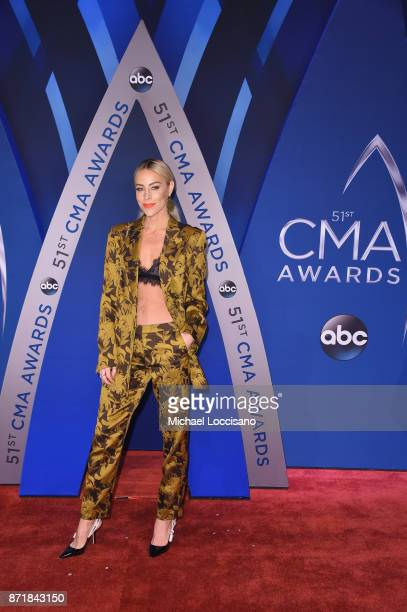 Mary Lawless Lee of the blog Happily Grey attends the 51st annual CMA Awards at the Bridgestone Arena on November 8 2017 in Nashville Tennessee