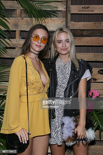 Mary Leest and Sonya Esman arrive to Hearts On Fire x ChapStick Blogger Brunch At Fashion Week at Hotel on Rivington on September 11 2015 in New York...