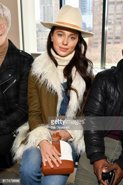 Mary Leest attends the Bevza fashion show during New York Fashion Week The Shows at Gallery II at Spring Studios on February 12 2018 in New York City