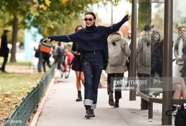 Mary Leest is seen wearing a Chloe outfit outside the Chloe show during Paris Fashion Week SS20 on September 26 2019 in Paris France