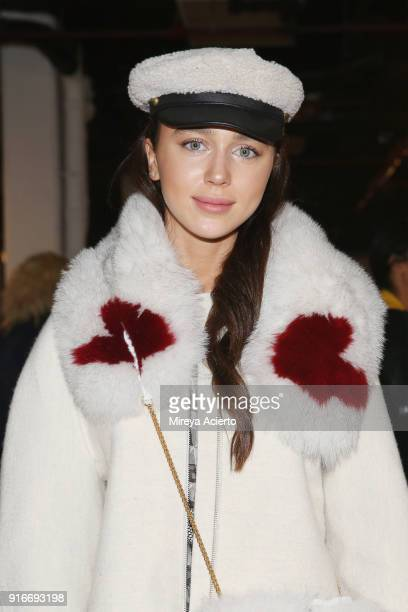 Mary Leest poses at the Kim Shui presentation at Gallery 151 on February 10 2018 in New York City