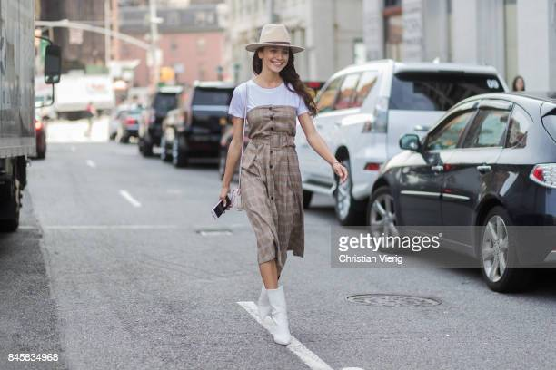 Mary Leest seen in the streets of Manhattan outside Zimmermann during New York Fashion Week on September 11 2017 in New York City