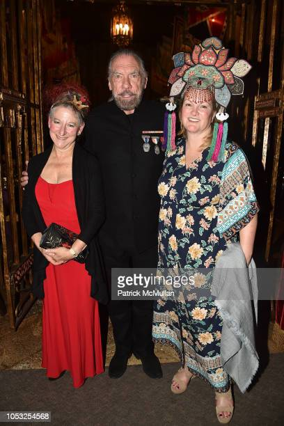 Mary Levkoff, John Paul DeJoria and Patricia Hearst Shaw attend Hearst Castle Preservation Foundation - Hollywood Royalty Dinner at Hearst Castle on...