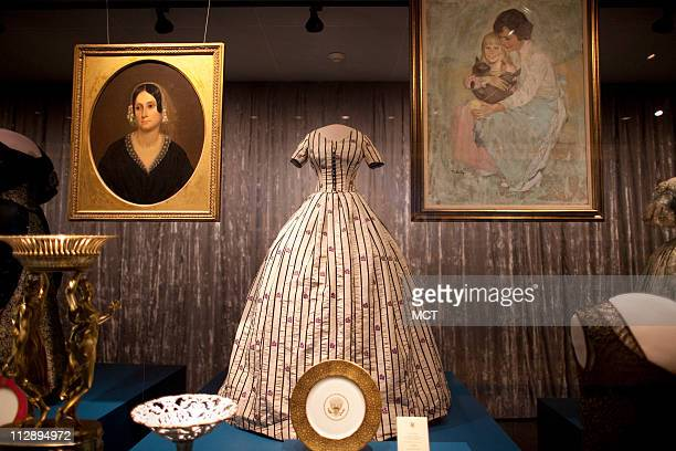 Mary Lincoln's silk dress is on display in Smithsonian's National Museum of American History First Ladies at the Smithsonian a showcase of premier...