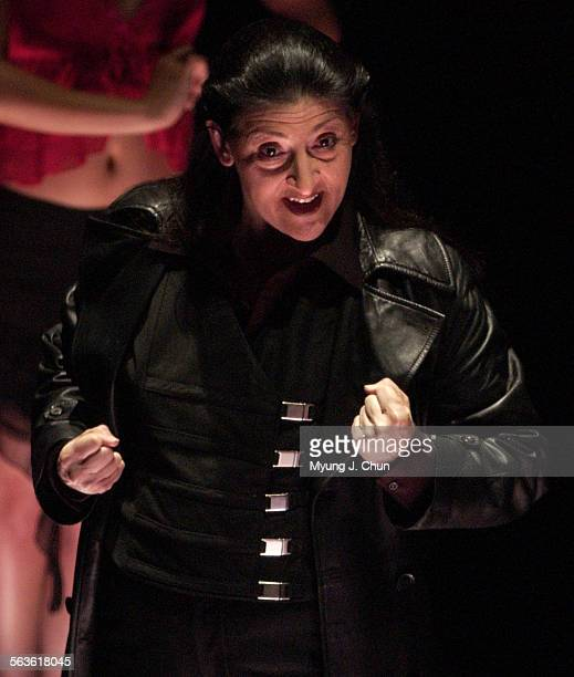 "Mary Lou Rosato plays Ma Shih–Ying in ""Peach Blossom Fan"" at the REDCAT in Los Angeles. Photo shot on Thu 4/15/2004."
