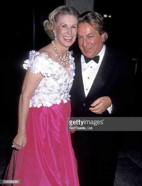 Mary Lou Whitney and Arnold Scaasi during Fashion Institute of Technology Tribute to Pauline Trigere at Fashion Institute of Technology in New York...