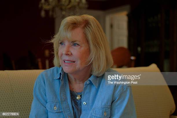 Mary Lou Yeager discusses the release of John Hinkley Jr at her home a few doors away from where Hinkley's mother lives in the gated Kingsmill...