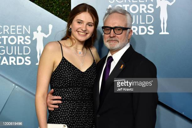 Mary Louisa Whitford and Bradley Whitford attends the 26th Annual Screen ActorsGuild Awards at The Shrine Auditorium on January 19 2020 in Los...