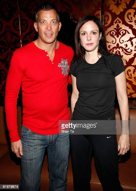 Mary Louise Parker and Abbey Founder/CEO David Cooley attend the 25th Annual AIDS Walk Los Angeles on October 18 2009 in West Hollywood California