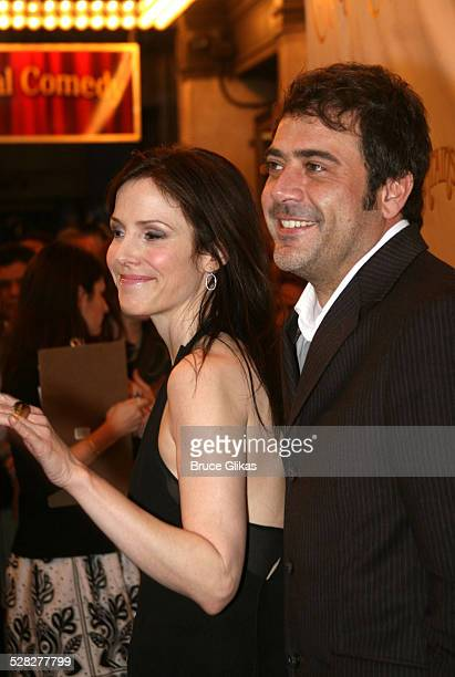 Mary Louise Parker and Jeffrey Dean Morgan during Curtains Broadway Opening Night - Arrivals - March 22, 2007 at Hirschfeld Theatre in New York City,...