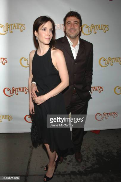 Mary Louise Parker and Jeffrey Dean Morgan during Curtains Opening Night Red Carpet at Hirschfeld Theatre in New York City New York United States